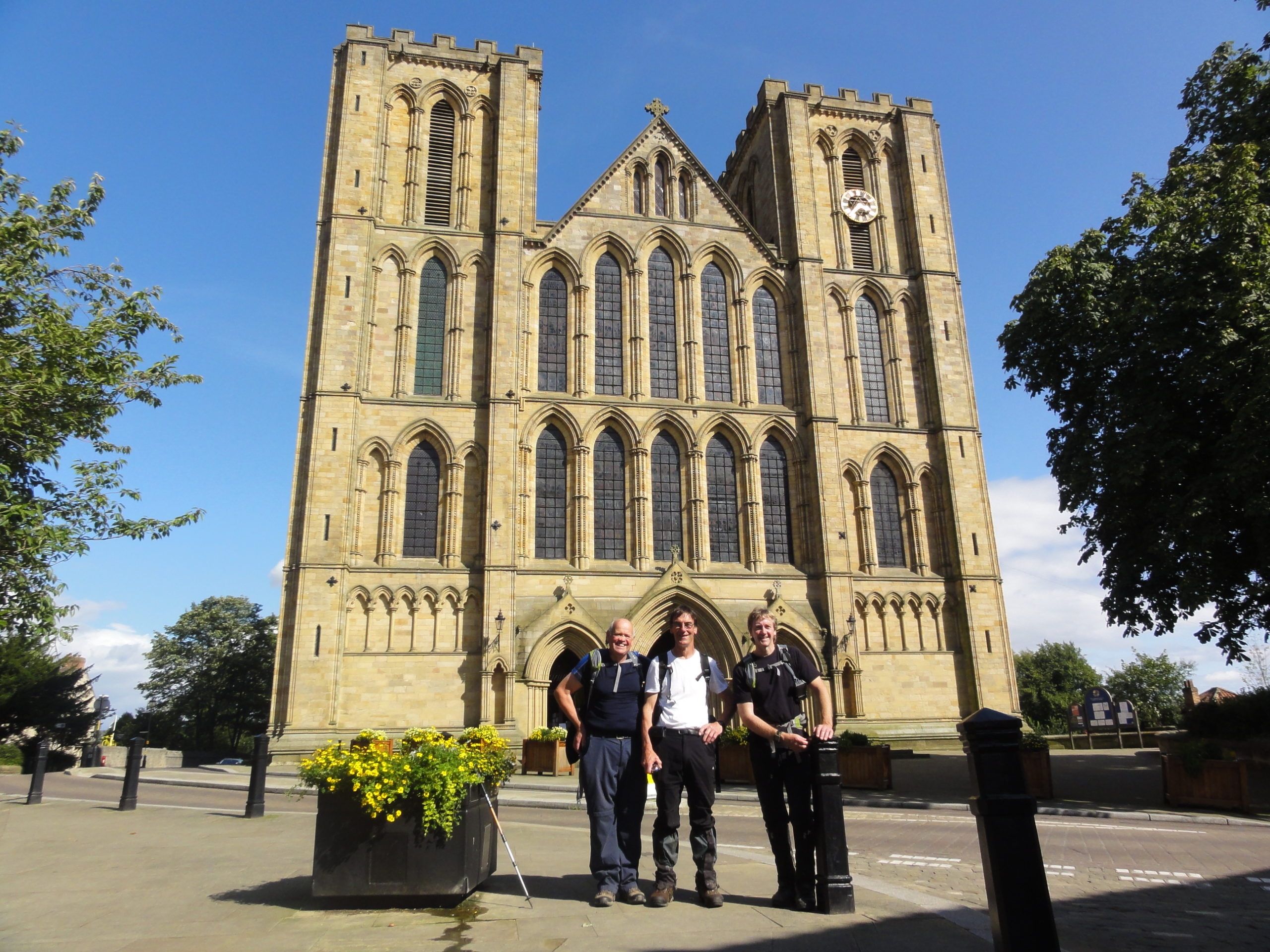 Ripon Cathedral – back where we started with some 104 miles travelled