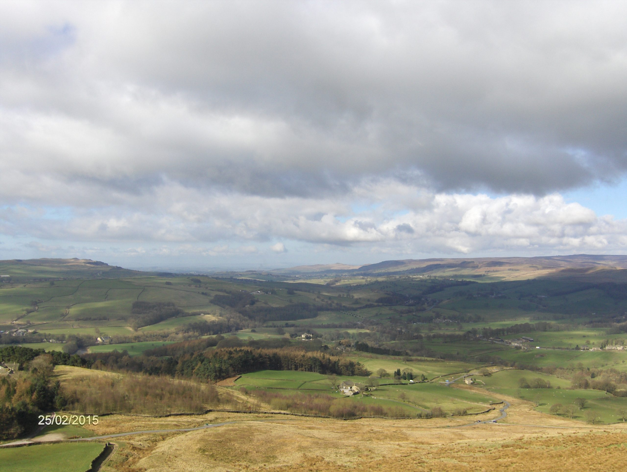 View from Beamsley Beacon towards Bolton Abbey