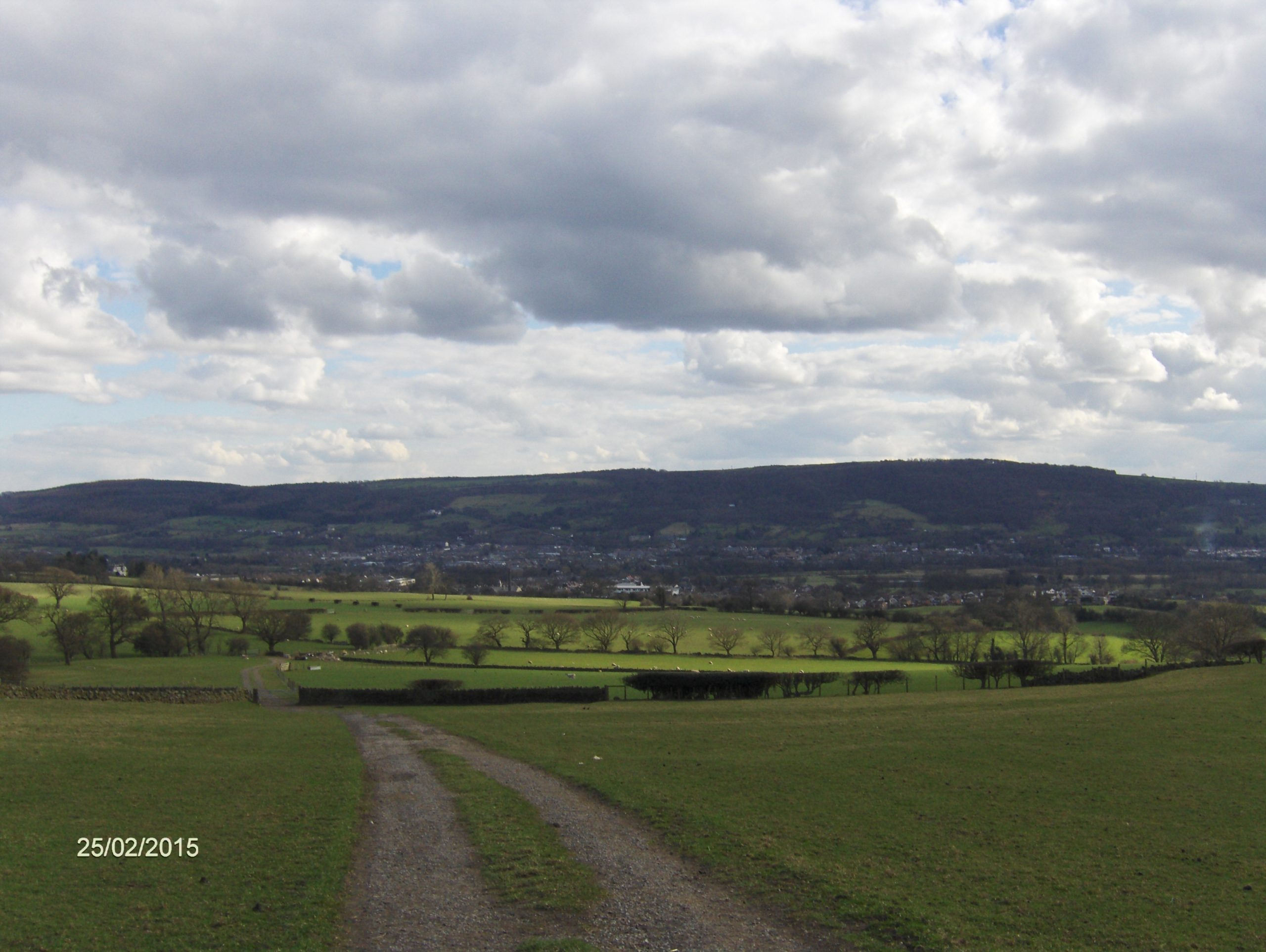 Otley in the distance