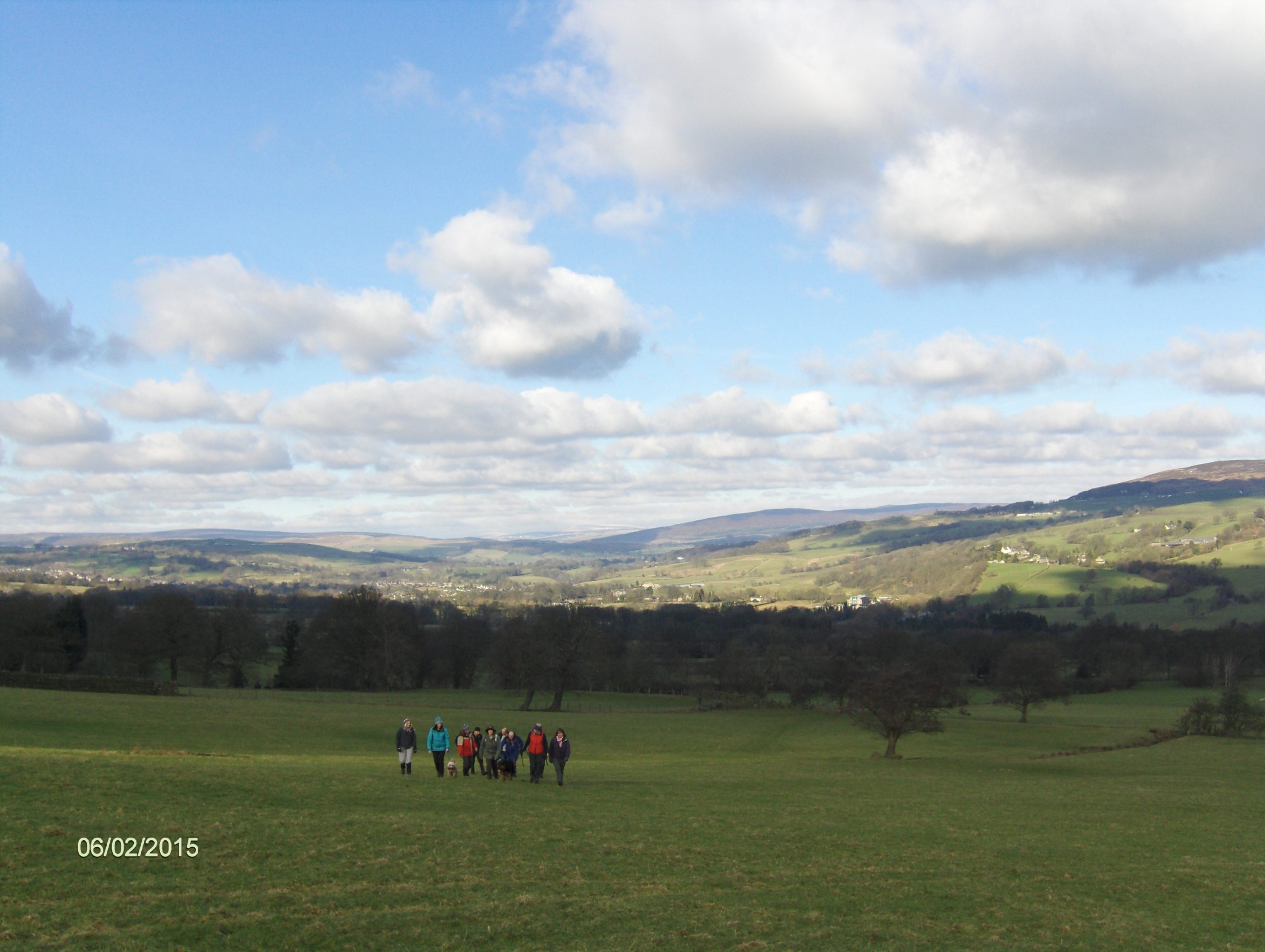 Crossing fields back to Ilkley